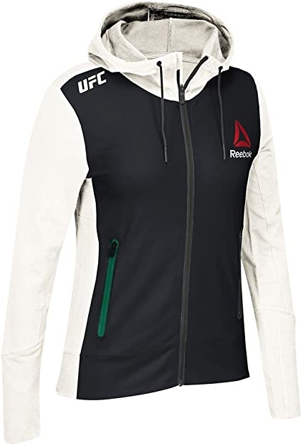 White//Black//Blue Walkout Hoodie Mens adidas Reebok Official UFC Fight Kit