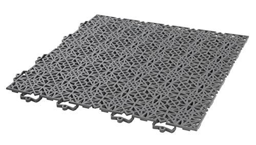 Andiamo 202404 - Set de baldosas de plástico para suelo, 38 x 38 cm, 7 unidades, 1 m², color negro: Amazon.es: Bricolaje y herramientas