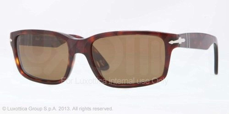 38d9ffbd51 Persol Men s 3067 Tortoise Frame Brown Polarized Lens Plastic Sunglasses