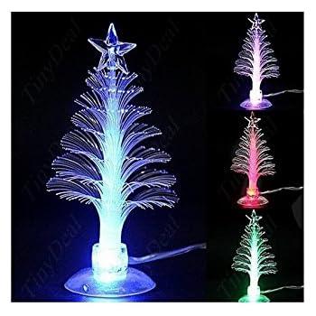 colorful christmas tree mini christmas tree usb christmas tree mini usb powered 7 colors fiber optic - Usb Powered Christmas Lights