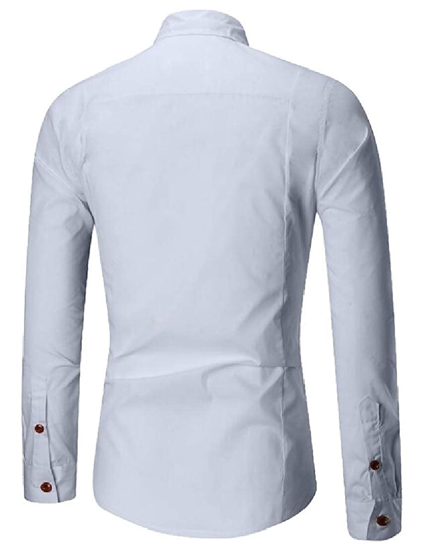 M/&S/&W Mens Fashion Dress Shirt Button Down Shirt Cotton Long Sleeve Regular Fit Dress Shirt