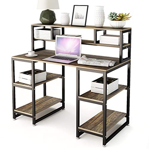 - Computer Desk with Hutch DEWEL 47