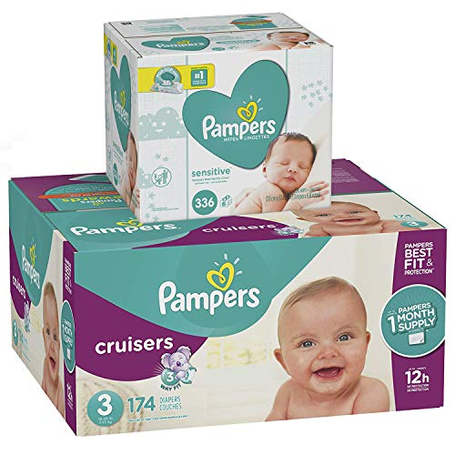 One Month Supply of Pampers Diapers and Wipes Only $41.90