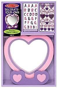 مجموعة تزيين المراة بتصميم القلب 772033497 من ميليسا اند دوج