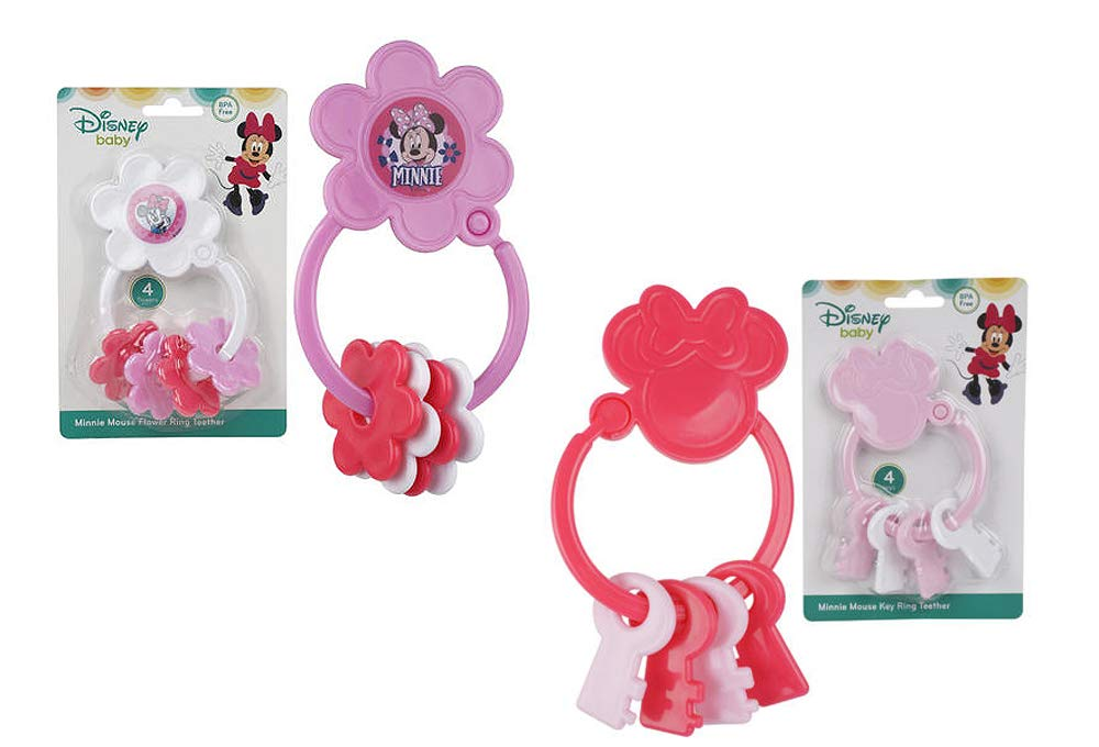 Amazon.com : Disney Baby Minnie Mouse Rattle, Key Ring ...