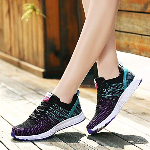 Shoes Volant Running Tissage Sport Outdoor Nette Sneakers Walking De Chaussures Surface Chaussure Femme Basket Noir Darringls Course Respirant XZnOPN8w0k
