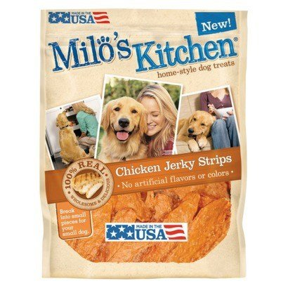 Milo's Kitchen Dog Treats Chicken Jerky , 15 Oz (Pack of 12) by Milo's Kitchen