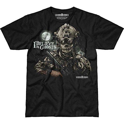7.62 Design 'I Believe in Ghosts' Men's Straight-8 T-Shirt 2X