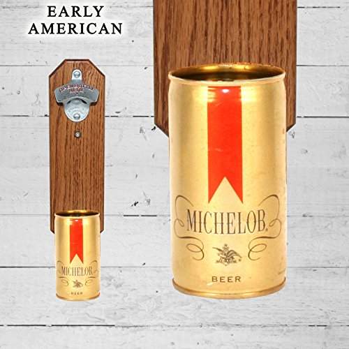 wall-mounted-bottle-opener-with-vintage-michelob-beer-can-cap-catcher