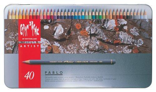 CREATIVE ART MATERIALS Caran d'Ache Pablo Pencil Set of 40 (666.340)
