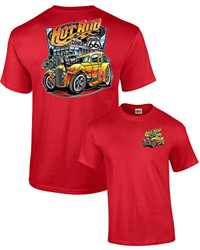 Hot Rod Diner Muscle Car Adult (Red Hot Rod)