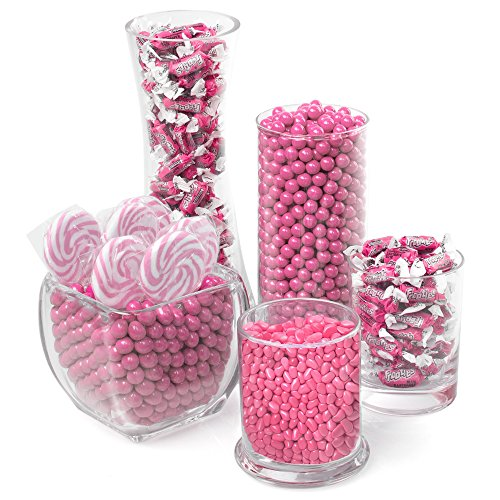 Elegant Pink Candy Kit   Party Candy Buffet Table