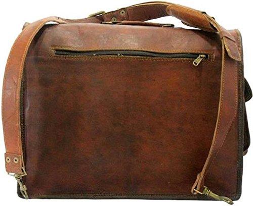 Tuzech grande Bold ed elegante realizzato a mano in pelle Hunter messenger ufficio regular bag Fits laptop (38,1cm)
