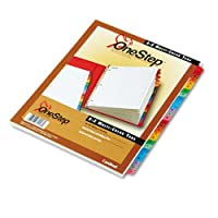 Cardinal 60218 Sistema de índice OneStep tradicional, 26 pestañas, A-Z, carta, multicolor (juego de 26)