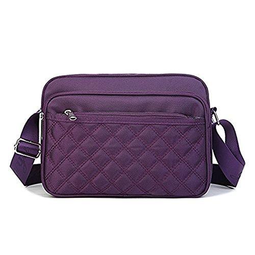 Meoaeo Bolsa De Nylon Impermeable, Al Hombro, Bolsa De Deporte De Hombres, Multi Pocket Bolsa De Nylon Impermeable,Azul Deep purple