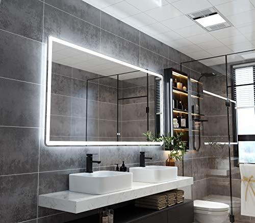 PetusHouse 72×36 Inch LED Backlit Bathroom Mirror