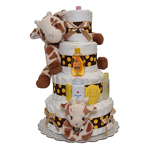 Giraffe Diaper Cake 4 Tiers ()