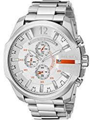 Diesel Mens DZ4328 Mega Chief Silver-Tone Stainless Steel Watch