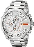 Diesel Men's DZ4328 Mega Chief Silver-Tone Stainless Steel Watch