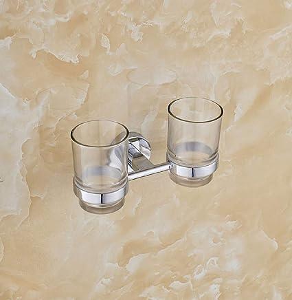 SMQ Portavasos Copa Doble para baño portavasos para baño portavasos Doble Porta Vasos para Enjuague bucal