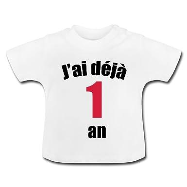 c7a5eb8c324de Spreadshirt Anniversaire J'Ai Déjà 1 an T-Shirt Bébé: Amazon.fr: Vêtements  et accessoires