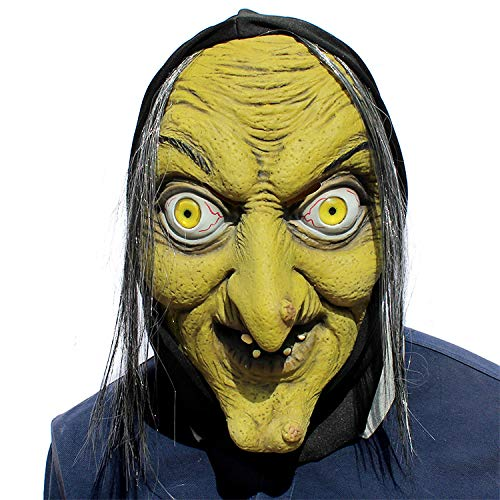 YXRL Cosplay Máscara Terror Bruja Máscara Látex Arnés Halloween ...
