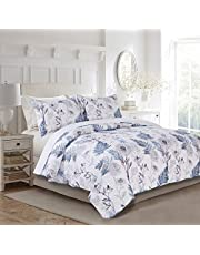 """Quilt Set Premium Bedding 3 Pieces, Pre-Washed - Hypoallergenic, Wrinkle and Stain Resistant, Super Soft Coverlet for All Seasons, Lightweight - Includes 1 Quilt Set and 2 Pillow Shams - Queen Size Quilt Set (88"""" x 88"""")"""