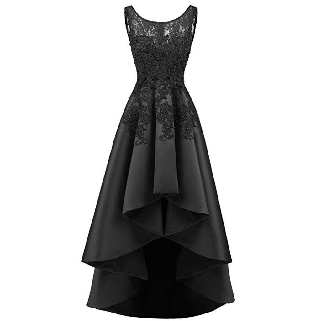 超格安価格 エレガントなレースのバックロングショート女性のイブニングドレスの花嫁介添人ドレスラウンドネックノースリーブ8色 US:8|ブラック B07QL224WN US:8|ブラック ブラック US:8 ブラック US:8, Tokyoキッチンウェア:b9f06fca --- a0267596.xsph.ru