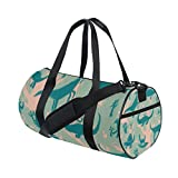 AURELIOR Dinosaurs Gym Duffle Bag Drum tote Fitness Shoulder Handbag Messenger Bags