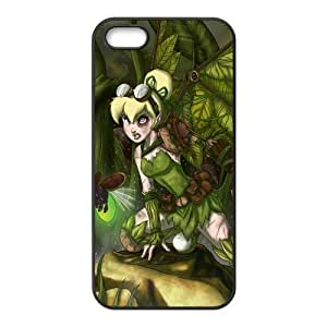 5s Case, iPhone 5 5s Case - Fashion Style New Tinker Bell Painted Pattern TPU Soft Cover Case for iPhone 5/5s(Black/white)