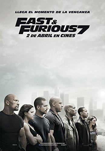 Fast and the Furious 7 Poster (20x28Inch) Matte Photo Paper / Vin Diesel, Paul Walker