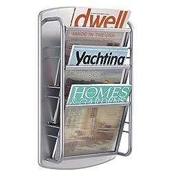 Safco Products 4641GR Impromptu Magazine Rack, 3 Pocket, Gray