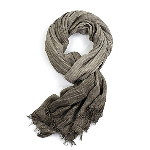 HaloVa Men's Scarf, Fashion Warm Autumn Winter Cotton Scarf, Muffler Neckerchief for Men Boys, Gray by HaloVa