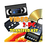Video-2-PC DIY Video Capture Kit. For Windows 10, 8.1, 8 and 7. Links your VCR or Camcorder to the USB port on your PC. Copy, Convert, Transfer: VHS, Video-8, VHS-C, Hi8, Digital8, and MiniDV video tapes to H.264/MPEG-4 files and DVD.