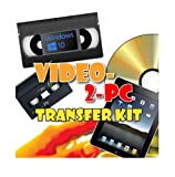 Video-2-PC DIY Video Capture Kit. For Windows 10, 8.1, 8, and 7. Links your VCR or Camcorder to the USB port on your PC. Copy, convert, transfer: VHS, Video-8, VHS-C, Hi8, Digital8, and MiniDV video tapes to digital format H.264, MPEG, MPEG-2, MPEG-4, YUV422 AVI files and burn to DVD. Tested with Windows 10, 8.1, 8 and 7.