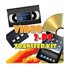 Video-2-PC Kit.  Suitable for use by beginners & experts. Capture video from almost any camcorder or VCR: VHS-C, Video8, Hi8, Digital8 and Mini DV camcorders via RCA phono outputs (typically yellow, red & white OR yellow & black) ...