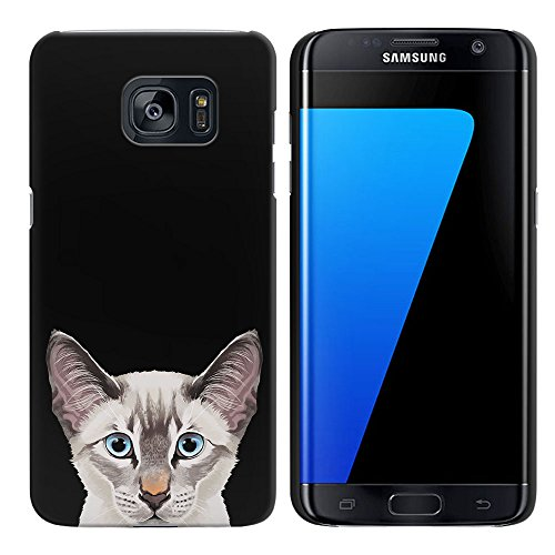 - FINCIBO Case Compatible with Samsung Galaxy S7 Edge G935, Back Cover Hard Plastic Protector Case Stylish Design for Galaxy S7 Edge (NOT FIT S7, S7 Active) - Lynx Point Lilac Siamese Cat