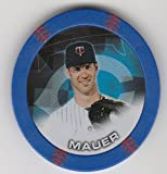 2014 Topps Poker Chipz Blue Joe Mauer Minnesota Twins