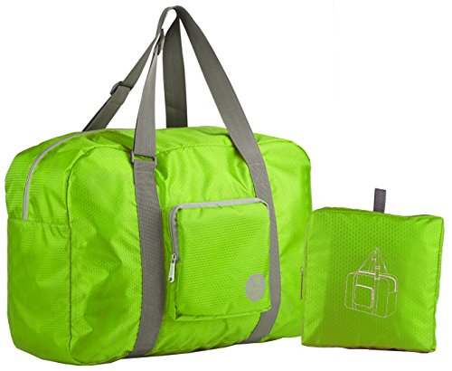 Wandf Foldable Travel Duffel Bag Luggage Sports Gym, (Folding Travel Bag)