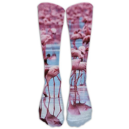 Pink Flamingo Compression Socks Soccer Socks Knee High Socks For Running,Medical,Athletic,Edema,Diabetic,Varicose Veins,Travel,Pregnancy,Shin (Andean Flamingo)