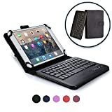 Acer Iconia Tab B1-A71 A1-830 keyboard case, COOPER INFINITE EXECUTIVE 2-in-1 Wireless Bluetooth Keyboard Magnetic Leather Travel Cases Cover Holder Folio Portfolio + Stand A1-830 B1-A71 (Black)