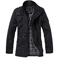 10dare Men's Casual Solid Business Bomber Jacket | Wind Proof | Outdoor Use Outer Layer Polyester/Cotton Winter Wear [ HSN 62