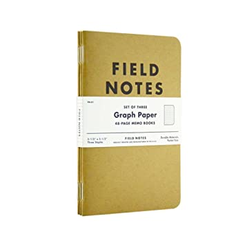 AmazonCom  Field Notes Kraft Graph Pack  Wirebound Notebooks
