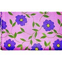 Jo-ann's Fabric,Animal,Floral,Ancient Garden Scene, Scottie Dog,Camouflage, (Small Yardage, Purple Flowers)