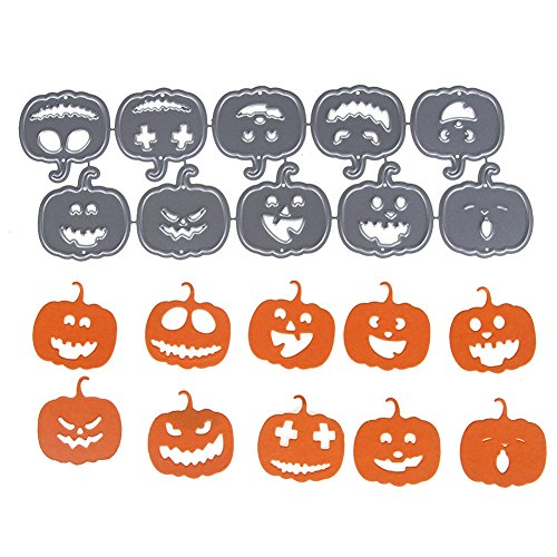 - DIY Metal Cutting Dies, Funny Pumpkin Face 3D Dies Cutting Stencil Template Mould for DIY Scrapbook Album Paper Card