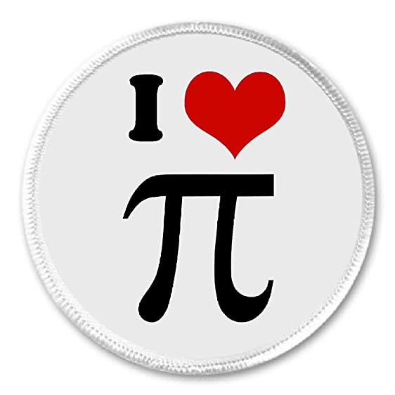 Amazon At Designs I Love Pi Math Symbol Sign 3 Sew On Patch