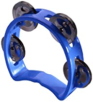 Stagg TAB-MINI/BL Plastic Cutaway Mini Tambourine with 4 Jingles - Blue