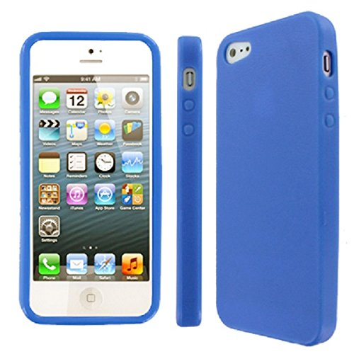 EMPIRE Apple iPhone 5 / 5G Textured Flexible Poly Skin Case Tasche Hülle Cover, Light Blau