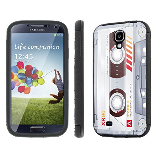 Samsung Galaxy S4 Case, [NakedShield] [Black] DUO Shock Resistant Armor Case - [Cassette Clear] for Samsung Galaxy S4
