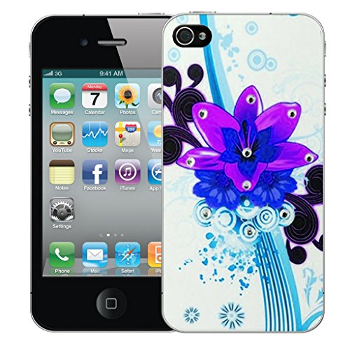 Mobile Case Mate iPhone 5c Silicone Coque couverture case cover Pare-chocs + STYLET - Purple Bouquet pattern (SILICON)